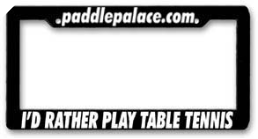 Table Tennis License Plate
